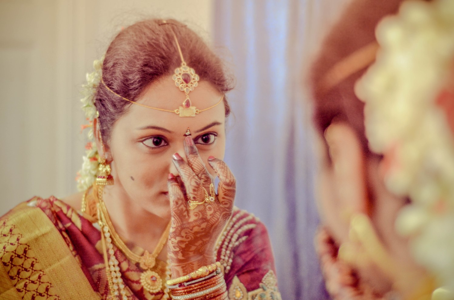 Getting ready for D day by Teja photography Wedding-photography   Weddings Photos & Ideas