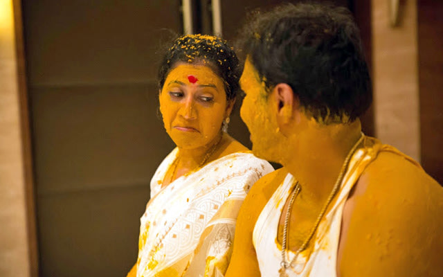 A candid picture of the couple during the haldi ceremony by Pankaj Rokade Photography  Wedding-photography | Weddings Photos & Ideas