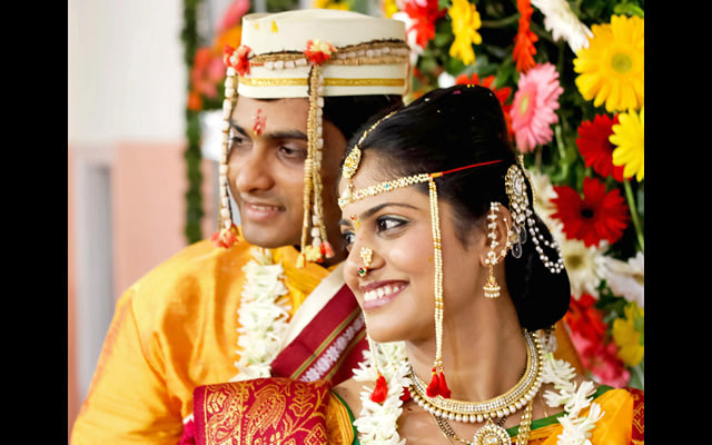 A smiling portrait of the bride and groom by Pankaj Rokade Photography  Wedding-photography | Weddings Photos & Ideas