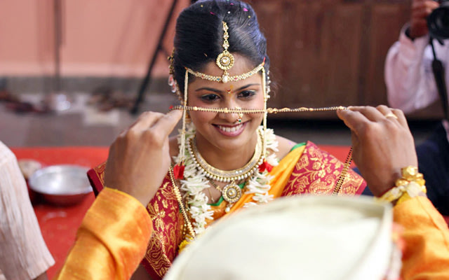 A portrait of the bride during the ceremony by Pankaj Rokade Photography  Wedding-photography | Weddings Photos & Ideas