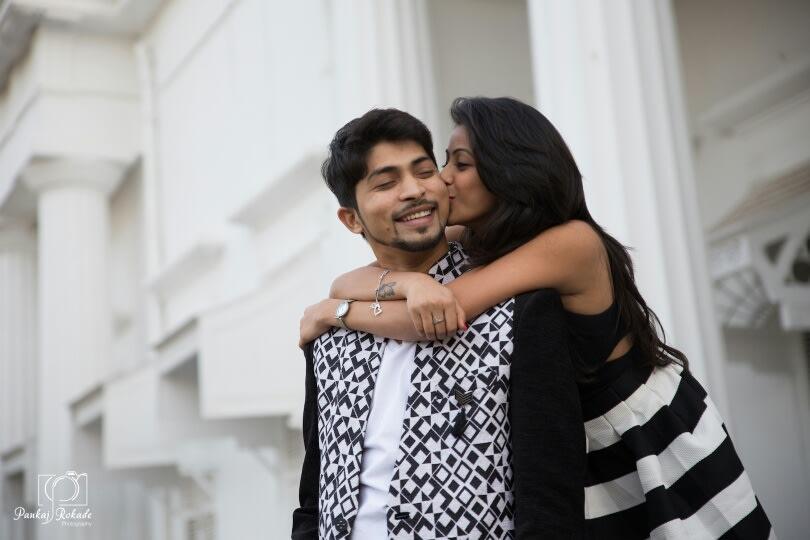 The couple having a romantic moment by Pankaj Rokade Photography  Wedding-photography | Weddings Photos & Ideas