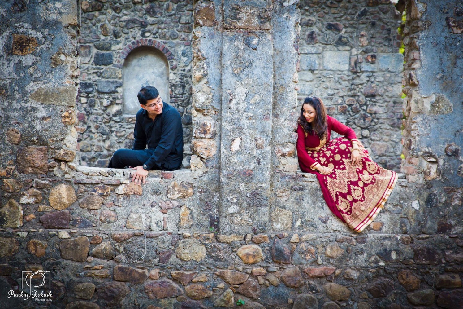 The smiling couple having a nice time at the fort by Pankaj Rokade Photography  Wedding-photography | Weddings Photos & Ideas