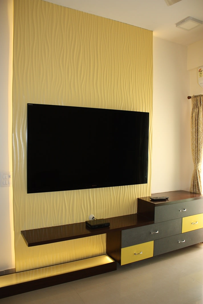 Modern TV cabinet decor by The Plumeria  Living-room Modern | Interior Design Photos & Ideas