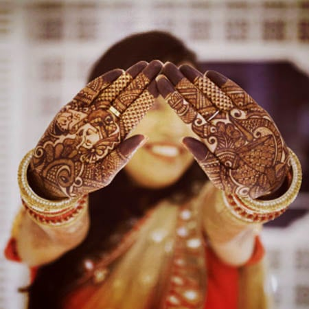 Bride Showing Off Her Mehendi by Dhanika Choksi Wedding-photography | Weddings Photos & Ideas
