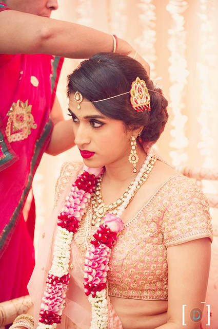 Bride Getting Ready For Her Big Day by Dhanika Choksi Bridal-makeup Bridal-jewellery-and-accessories | Weddings Photos & Ideas