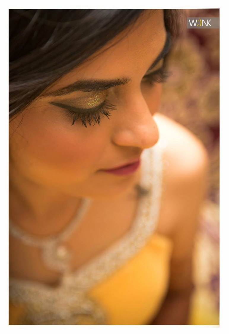 Glittering gold bridal eye make-up by Wiink Wedding-photography | Weddings Photos & Ideas