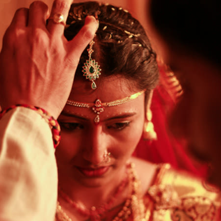 Candid shot of bride during her wedding ceremony by Dinesh narra photography Wedding-photography | Weddings Photos & Ideas