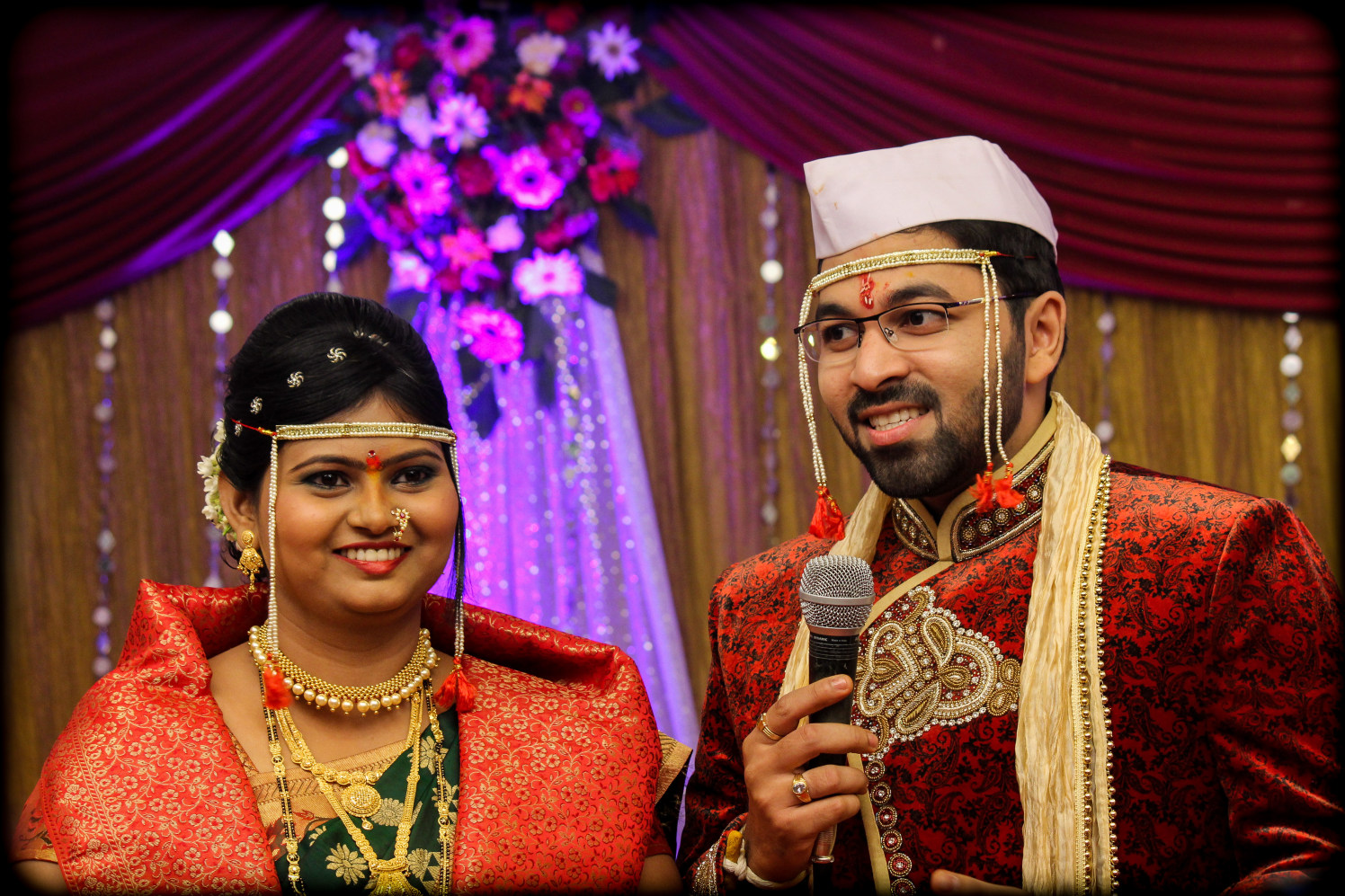 All smiles as the groom gives a speech by Saurabh Photography Wedding-photography | Weddings Photos & Ideas