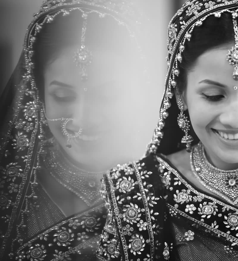That black and white look of the bride by Swagat Mohanty Photography Wedding-photography Bridal-jewellery-and-accessories | Weddings Photos & Ideas