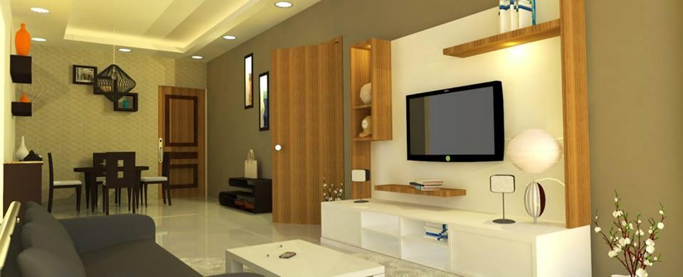 Plush living room decor by Unbox Design Studio Living-room Modern | Interior Design Photos & Ideas