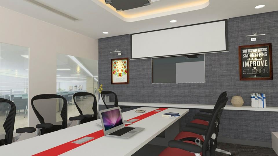 Modern conference room decor by Unbox Design Studio Modern | Interior Design Photos & Ideas