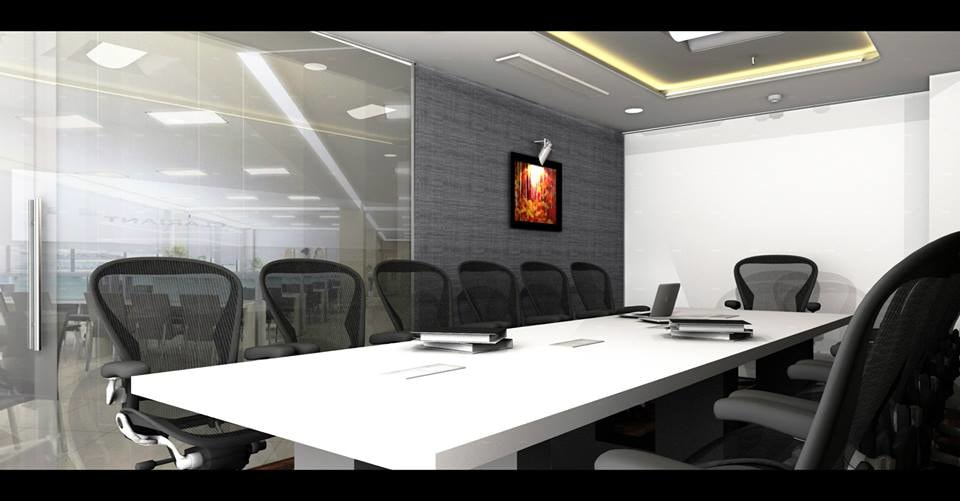 Modern conference room decor by Unbox Design Studio Modern | Interior Design Photos & Ideas