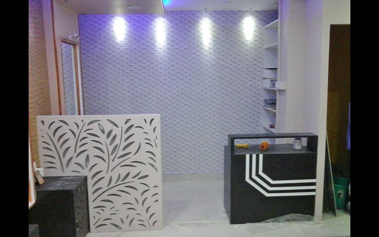 Modern office reception decor by Shree sai Geetha Enterprises  Modern | Interior Design Photos & Ideas