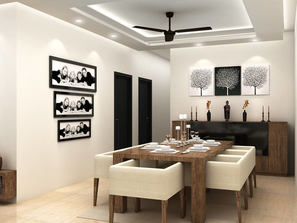 Plush dining room decor by Furnish Your Dream Living-room Modern | Interior Design Photos & Ideas
