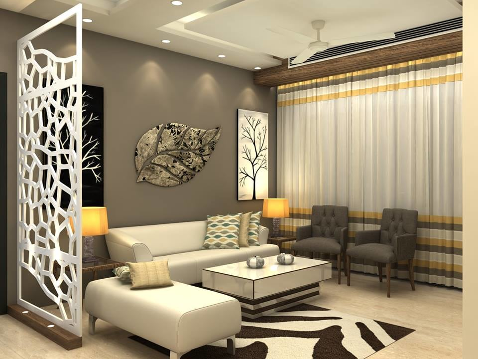 3-D effect living room decor by Furnish Your Dream Living-room Contemporary | Interior Design Photos & Ideas