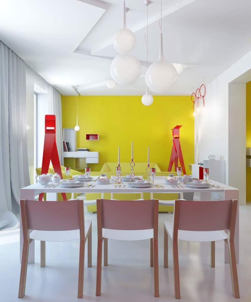 Plush dining room decor by Burhani Design Studio Living-room Contemporary | Interior Design Photos & Ideas