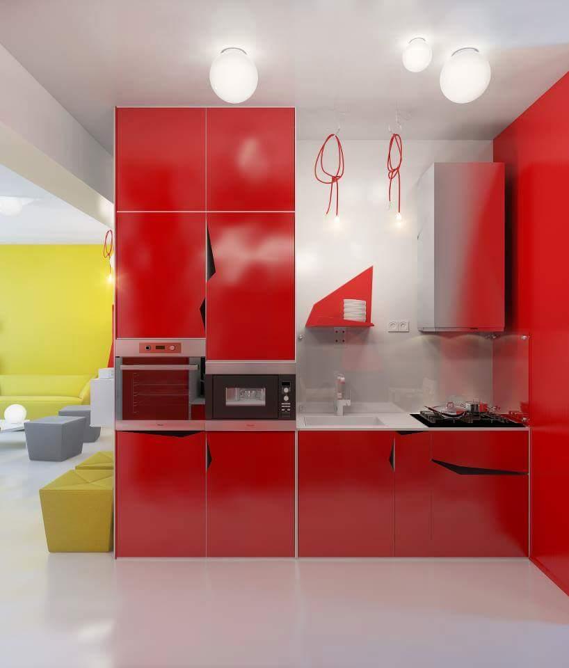 Open modular kitchen decor by Burhani Design Studio Modular-kitchen Modern | Interior Design Photos & Ideas