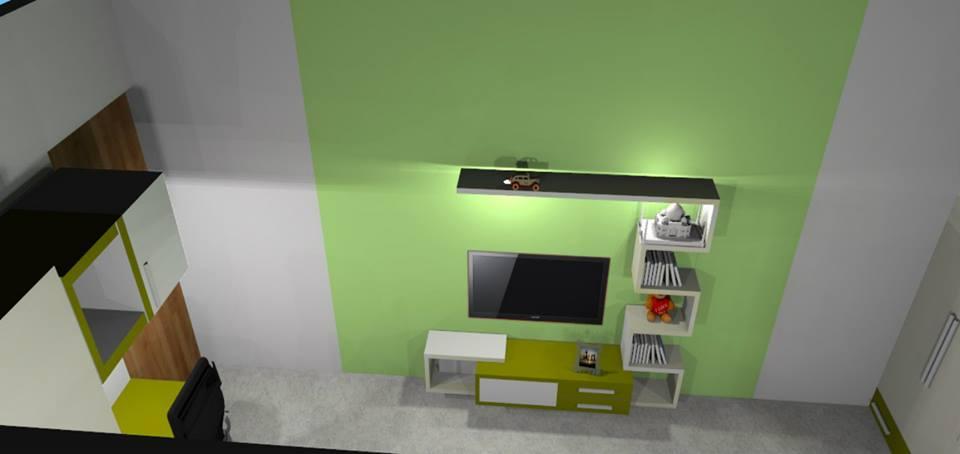 A modern T.V unit by Bella Cucina Consultancy Bedroom | Interior Design Photos & Ideas