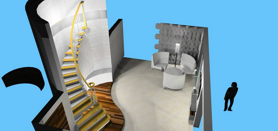 A 3D image of an indoor staircase by Bella Cucina Consultancy Indoor-spaces | Interior Design Photos & Ideas