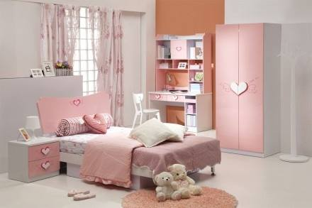 A 3D Pink kids bedroom by Bella Cucina Consultancy Bedroom | Interior Design Photos & Ideas