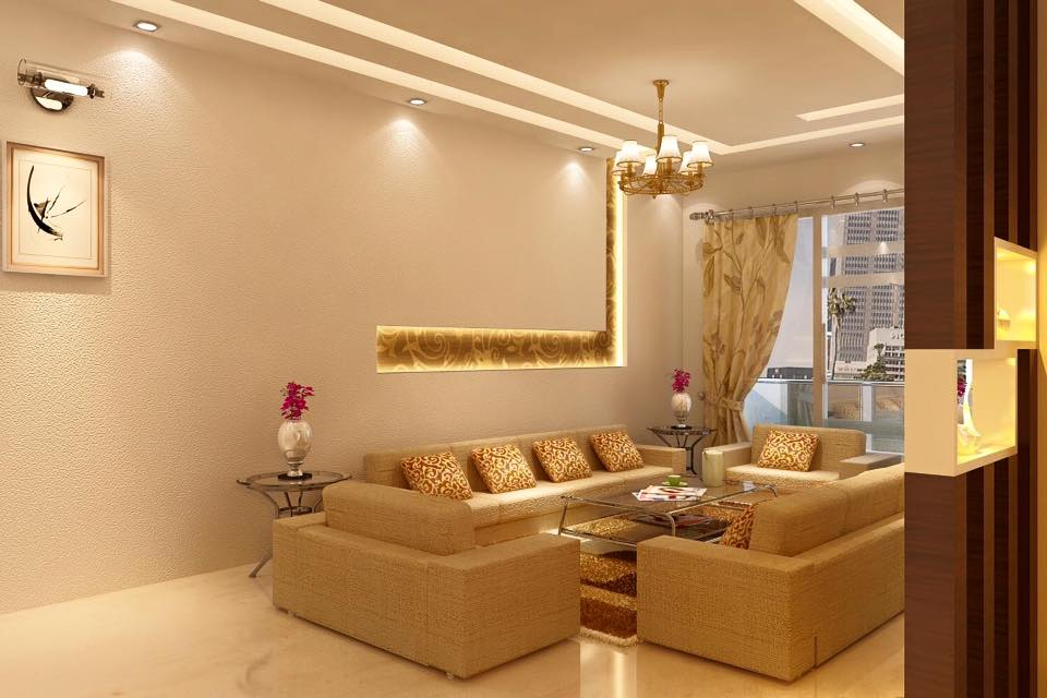 A caramel shade contemporary living room by Bella Cucina Consultancy Living-room | Interior Design Photos & Ideas