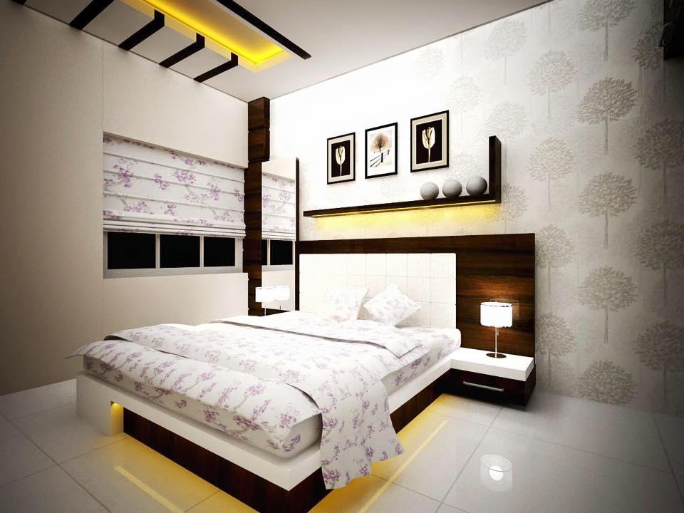 A modern master bedroom with wooden furniture by Bella Cucina Consultancy Bedroom | Interior Design Photos & Ideas
