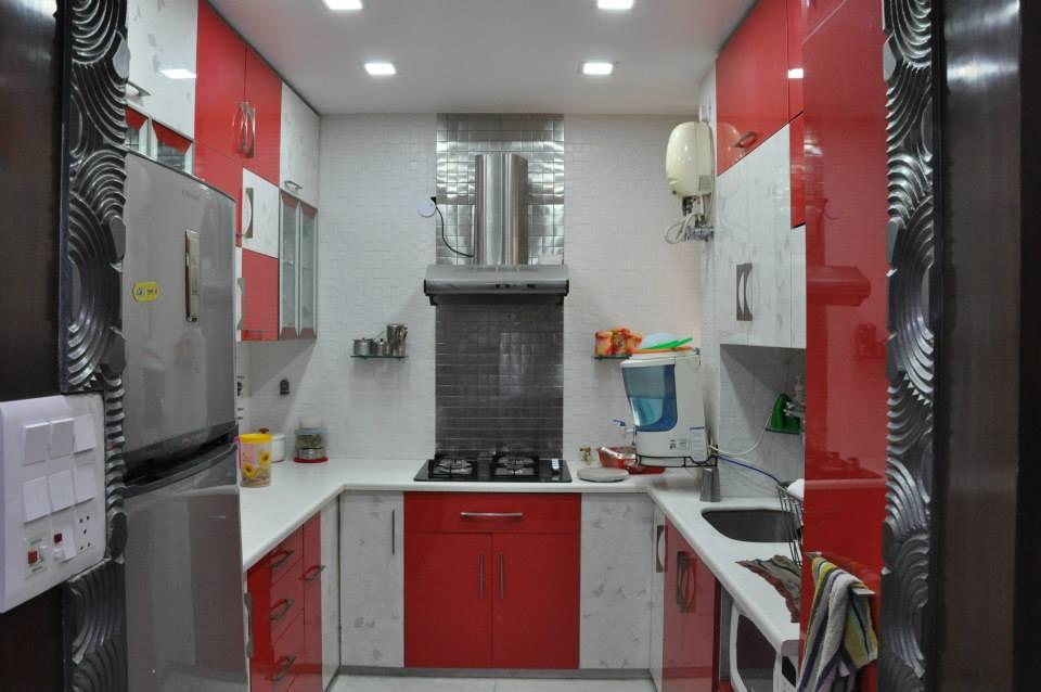 A standard U shaped contemporary kitchen by Bella Cucina Consultancy Modular-kitchen | Interior Design Photos & Ideas