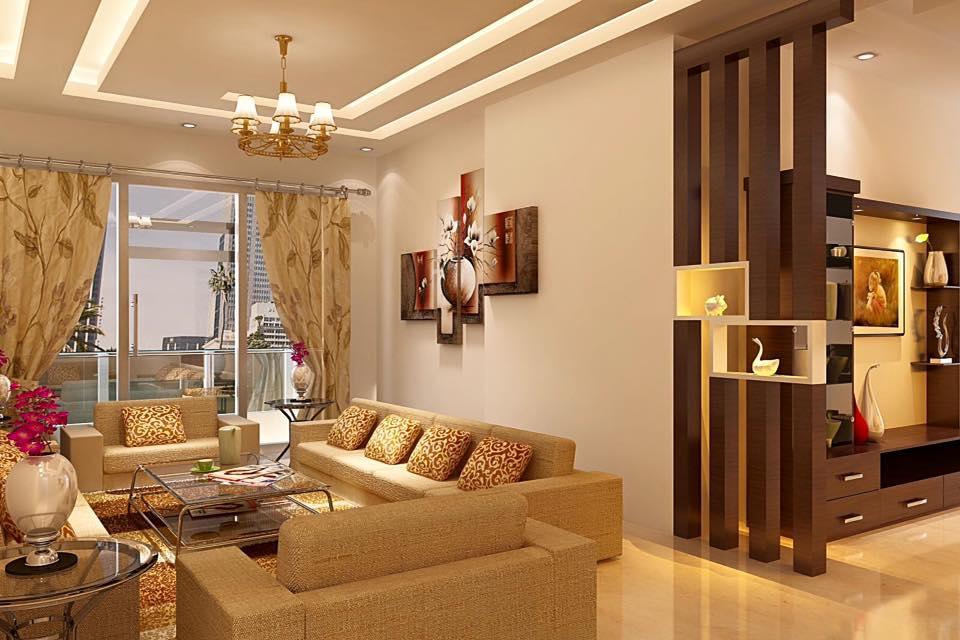 A 3D caramel living room by Bella Cucina Consultancy Living-room | Interior Design Photos & Ideas