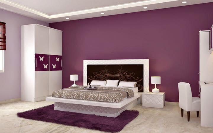 A modern master bedroom with mauve walls by Bella Cucina Consultancy Bedroom | Interior Design Photos & Ideas