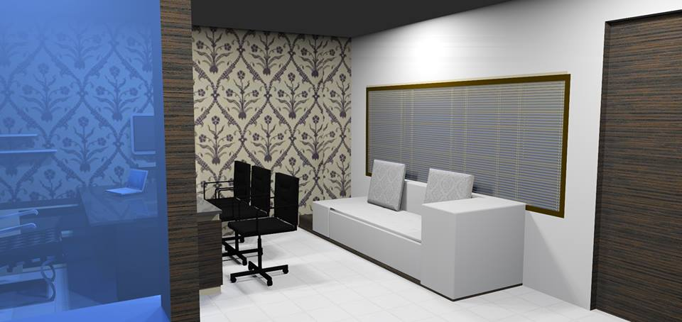 3D design of a cellular modern office space by Bella Cucina Consultancy | Interior Design Photos & Ideas