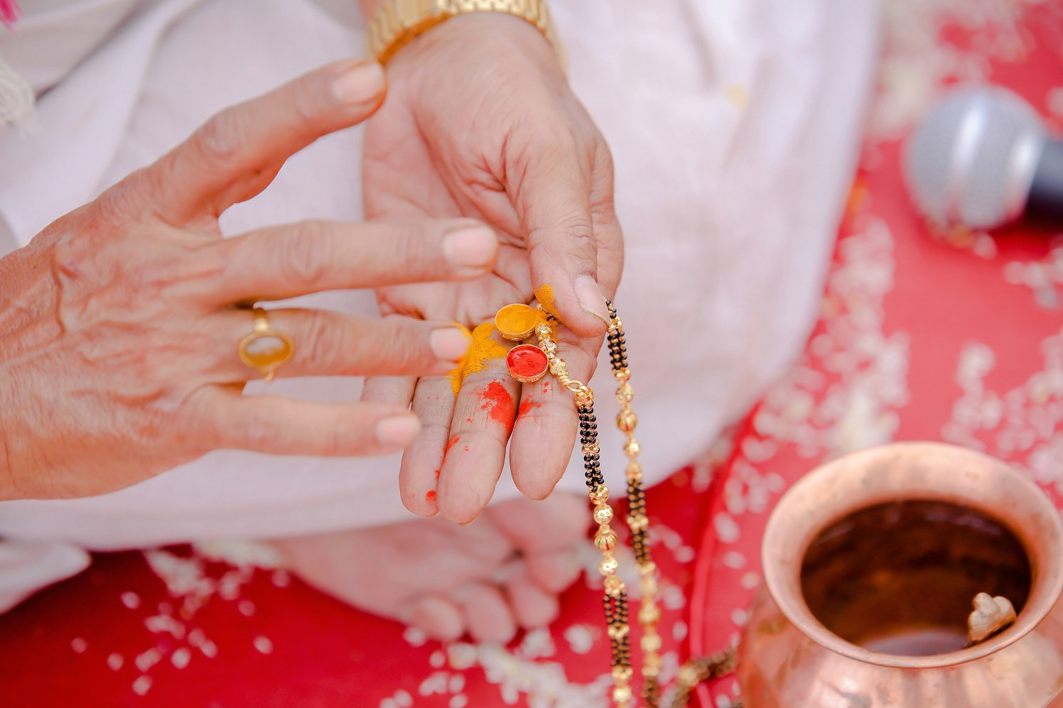 The auspicious symbol of our love by Krazy Moments Wedding-photography | Weddings Photos & Ideas