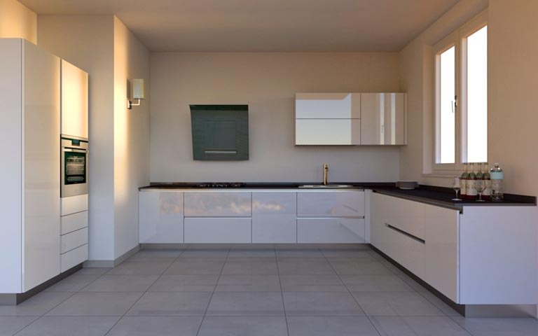Plush modular kitchen decor by Mansion Kitchen Modular-kitchen Modern | Interior Design Photos & Ideas