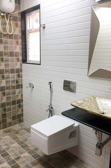 Bathroom Decor With Mosaic Tiles by Vikesh M Sheth Bathroom Modern | Interior Design Photos & Ideas