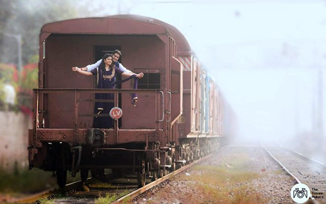 Elegant couple in a train by The Tasveer Makers Wedding-photography | Weddings Photos & Ideas