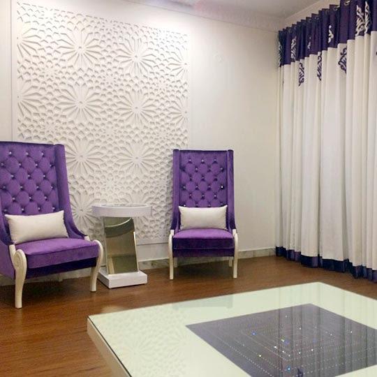 Royal Purple Slipper Chairs by Shrey Living-room Contemporary   Interior Design Photos & Ideas