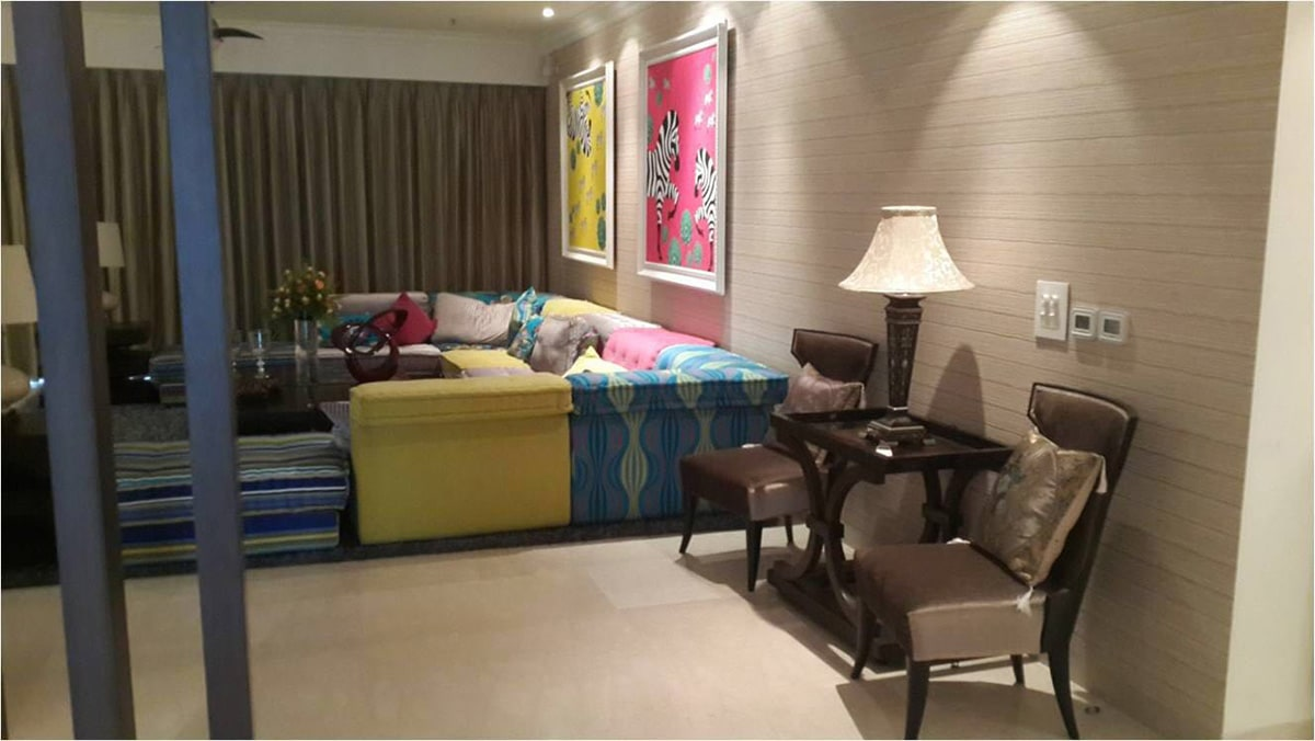 Eclectic Multi-Coloured Sofa Sets by Ram Malhotra Living-room Modern | Interior Design Photos & Ideas