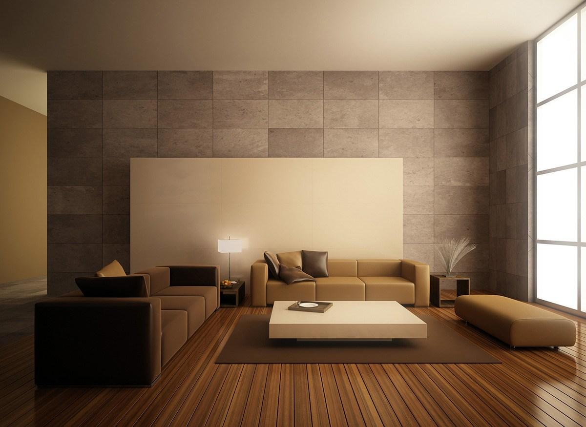 Wood finish modern living room decor by eb+D Living-room | Interior Design Photos & Ideas