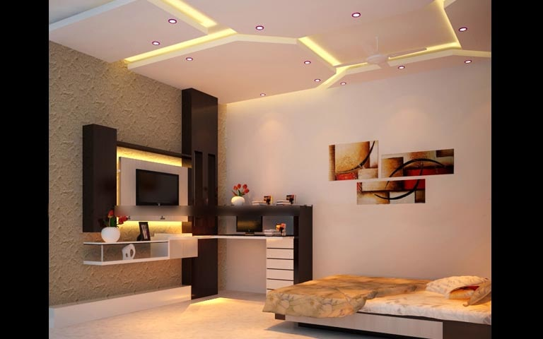 Bedroom Decor With Staggered Roof Art by Sameer Gulati Bedroom Contemporary | Interior Design Photos & Ideas