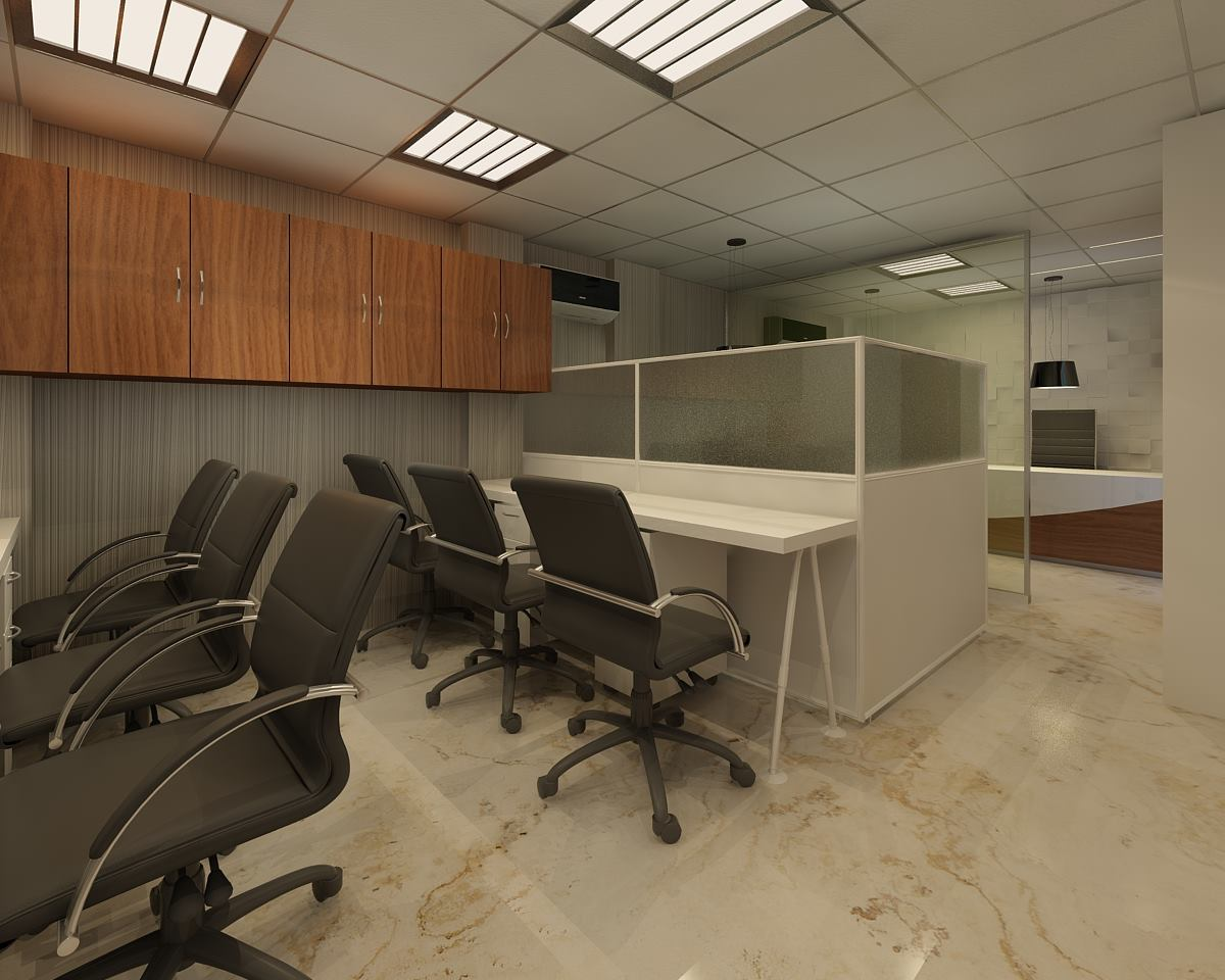 Compounded small office room by GN Interiors Contemporary | Interior Design Photos & Ideas