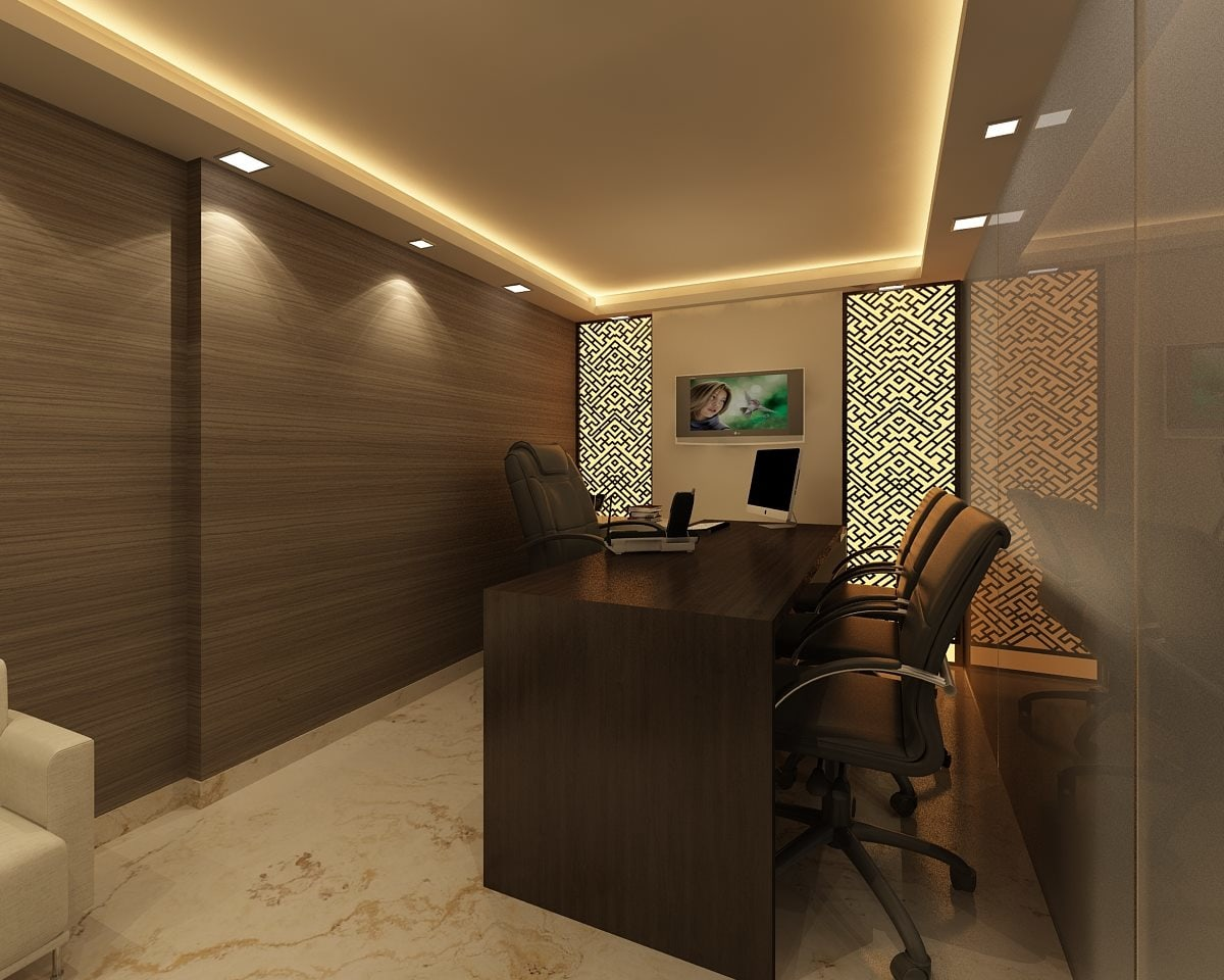 Artistic office by GN Interiors Modern | Interior Design Photos & Ideas