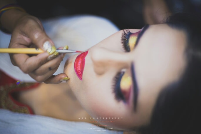 Perfecting that lipstick! by ARC Photography Wedding-photography | Weddings Photos & Ideas