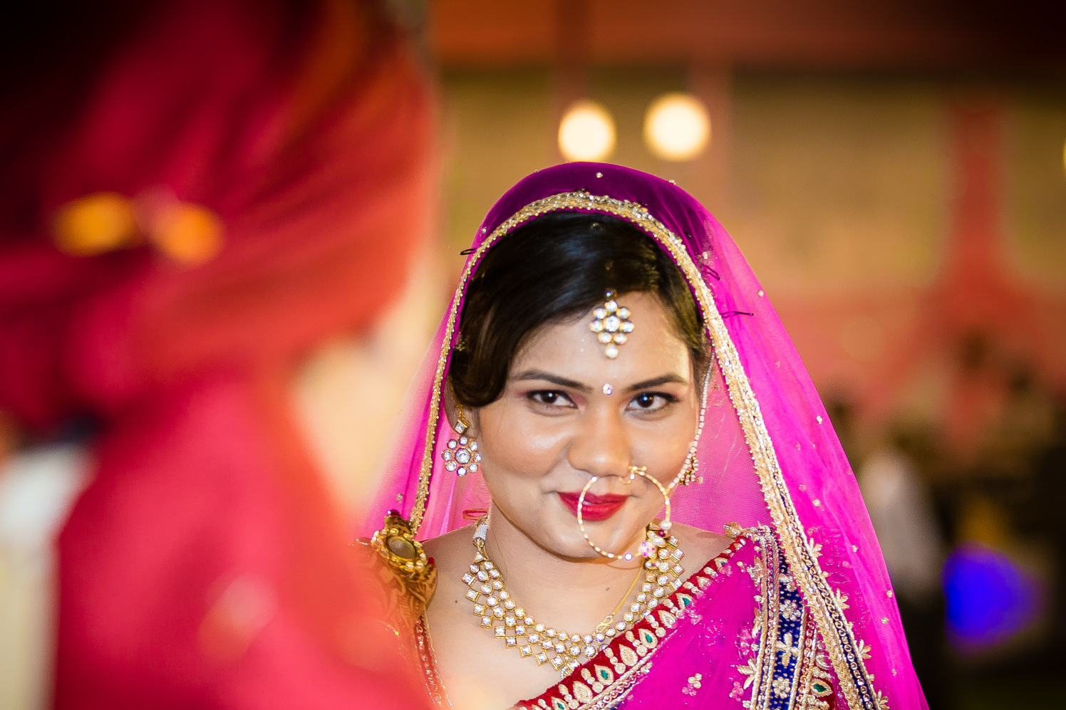 Beautiful maang tikka and nath by ARC Photography Wedding-photography Bridal-jewellery-and-accessories Wedding-dresses   Weddings Photos & Ideas