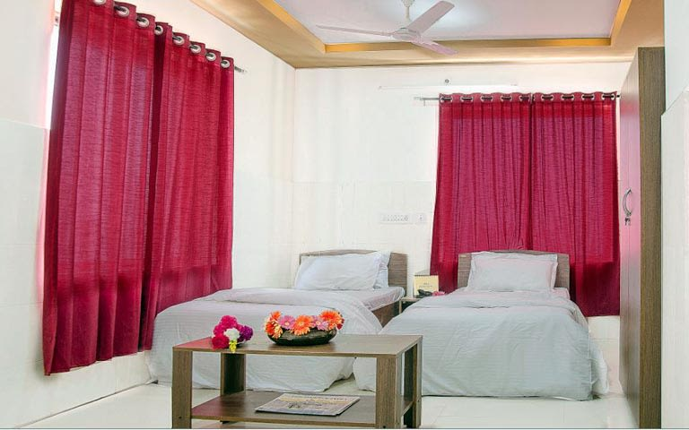 White Themed Bedroom With Pink Curtains by Jacons Building Technologies  Bedroom Modern | Interior Design Photos & Ideas