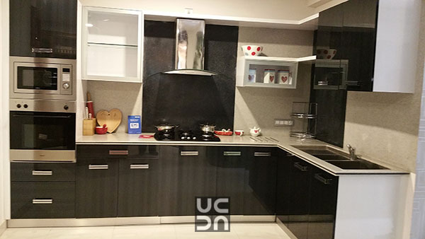 Ebony Finish Modular Kitchen by TIMBER DESIGNS  Modular-kitchen Modern | Interior Design Photos & Ideas