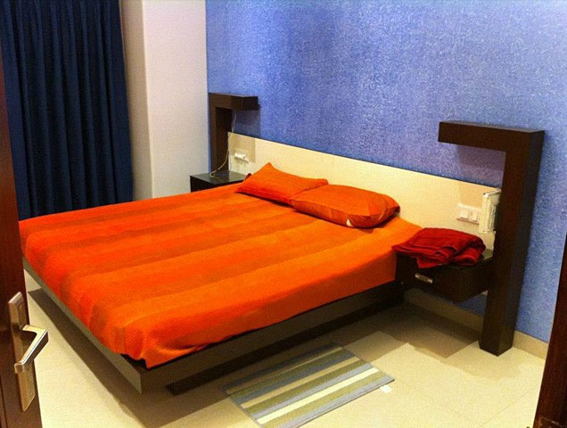 Orange themed master bedroom decor by Nature In My life Bedroom   Interior Design Photos & Ideas