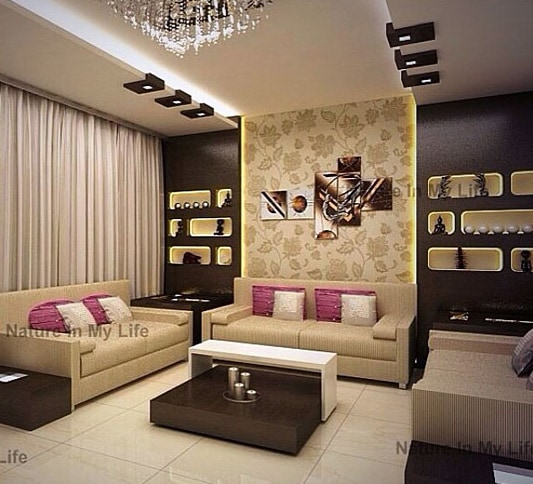 Regal theme living room decor by Nature In My life Living-room   Interior Design Photos & Ideas