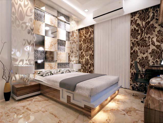 Spacious bedroom by Karan patel