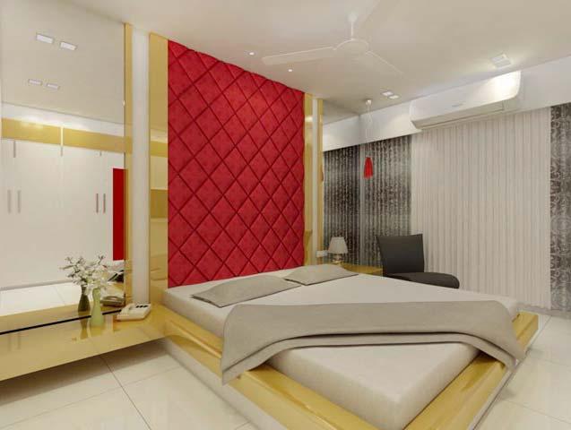 King size bedroom by Karan patel Bedroom | Interior Design Photos & Ideas