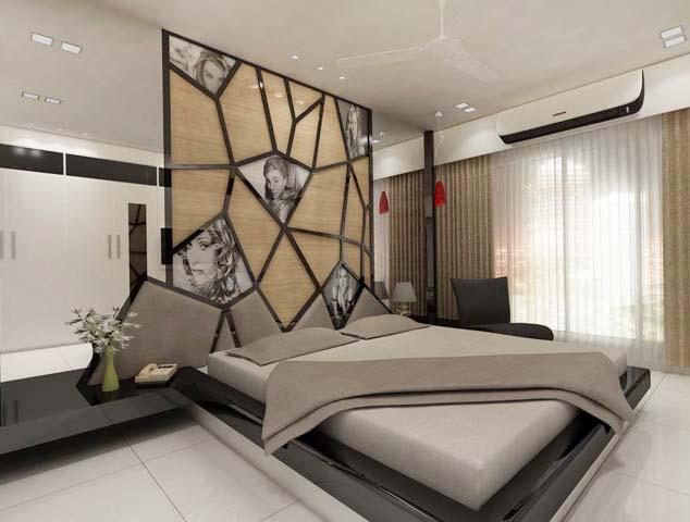 Elegant specious bedroom by Karan patel Bedroom | Interior Design Photos & Ideas