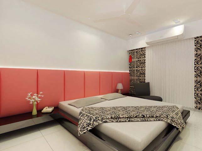 Spacious bedroom by Karan patel Bedroom | Interior Design Photos & Ideas